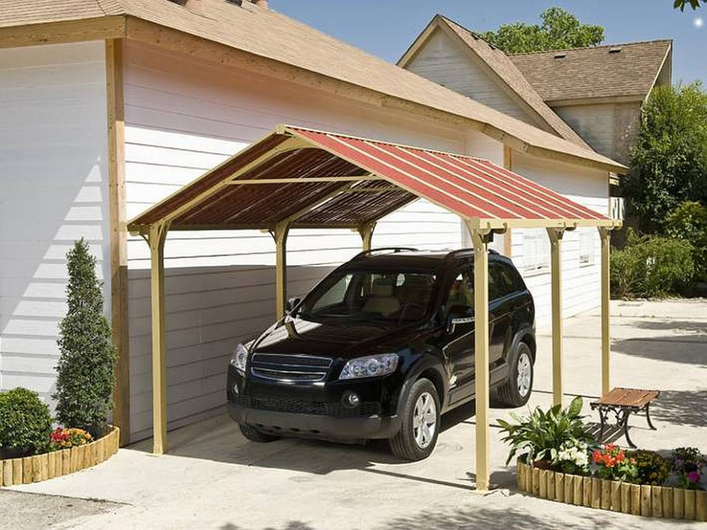 13 Metal Roof Gazebo Carport, Sun Life Single Aluminum ...
