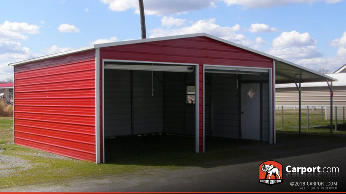 13' X 13' Two Car Metal Garage Metal Garage Kits Carports