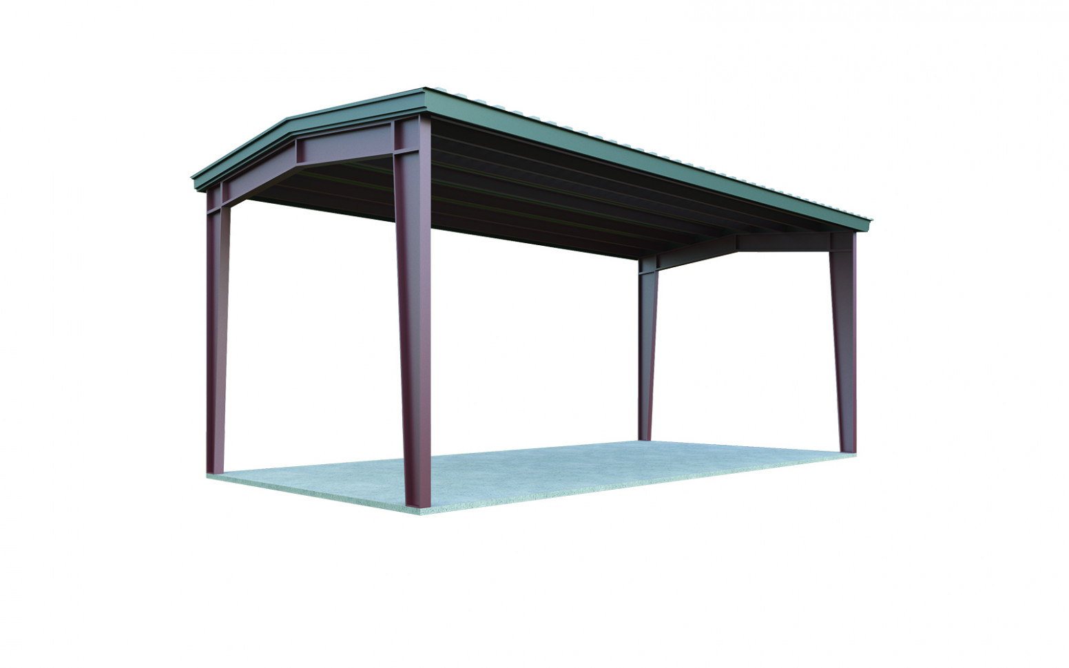 13×13 Carport: Perfect For Two Cars | General Steel Shop Carports Contemporary Buildings