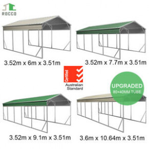 Single Carport 10 10m Width Gable Roof Backyard Boat Portable Portable Carport Tamworth.jpg