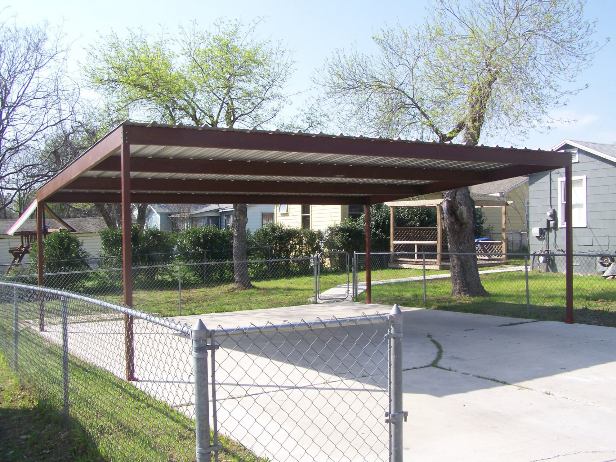 Metal Carport Kits Do Yourself Allstateloghomes Com Flat Top Carport Roof.jpg