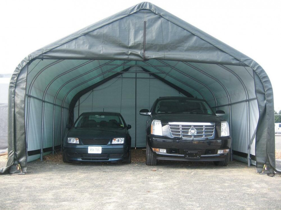 18x20x12 Peak Shelterlogic Snow Shedding Portable Garage How To Install A Carport Canopy.jpg