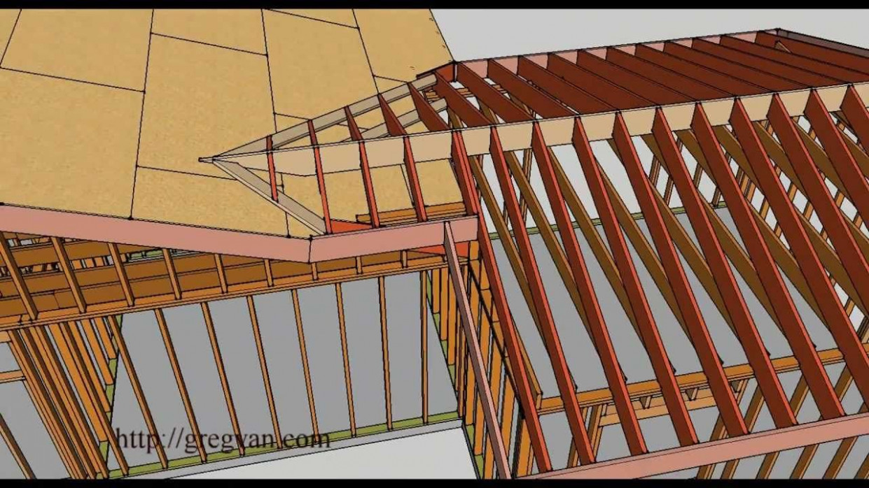 How To Frame A Roof For An Offset Room Addition Building Youtube Building A Wooden Carport.jpg