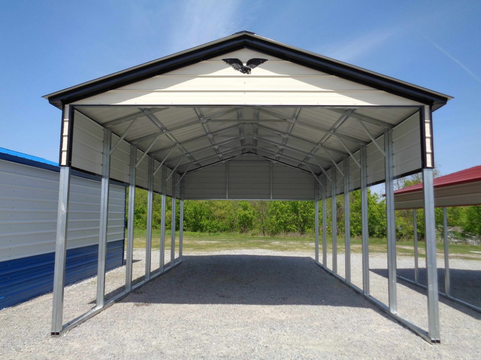 18' X 31′ X 13' Vertical Roof RV Carport Extend Carport Roof