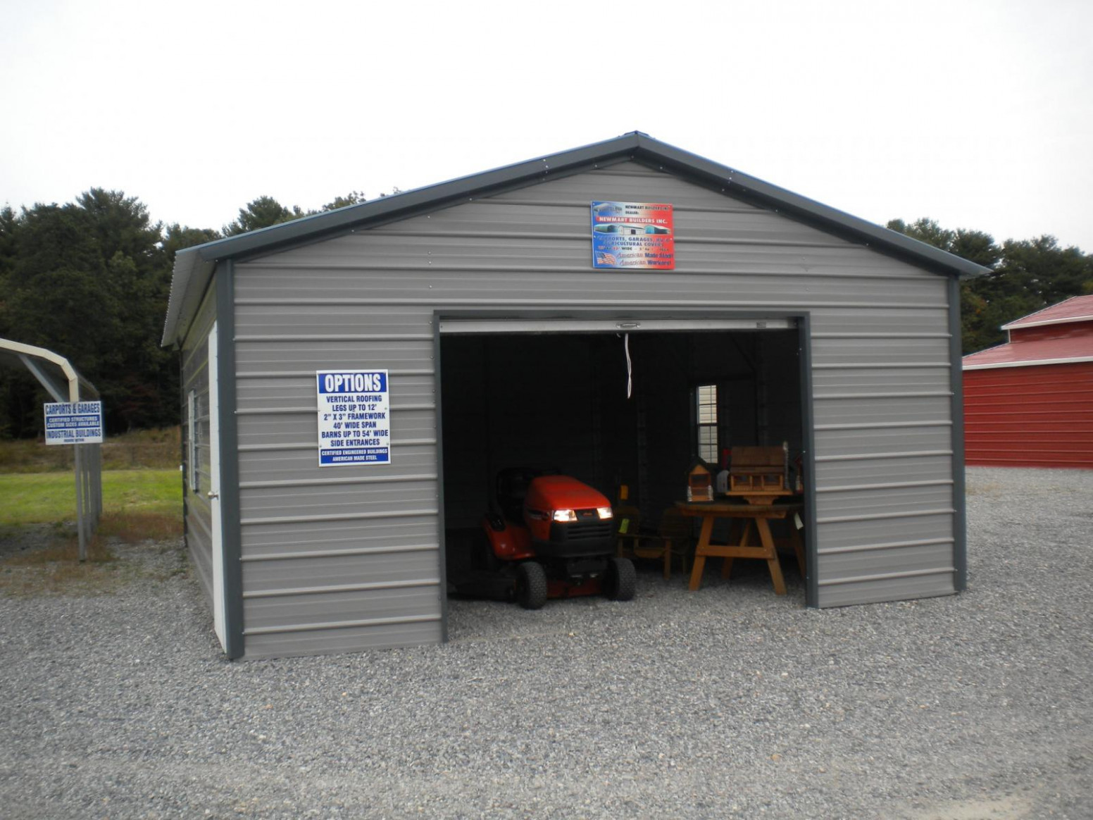 18x26 A Frame Enclosed Carport Garage | Pine Creek Structures Photo Carport Garage