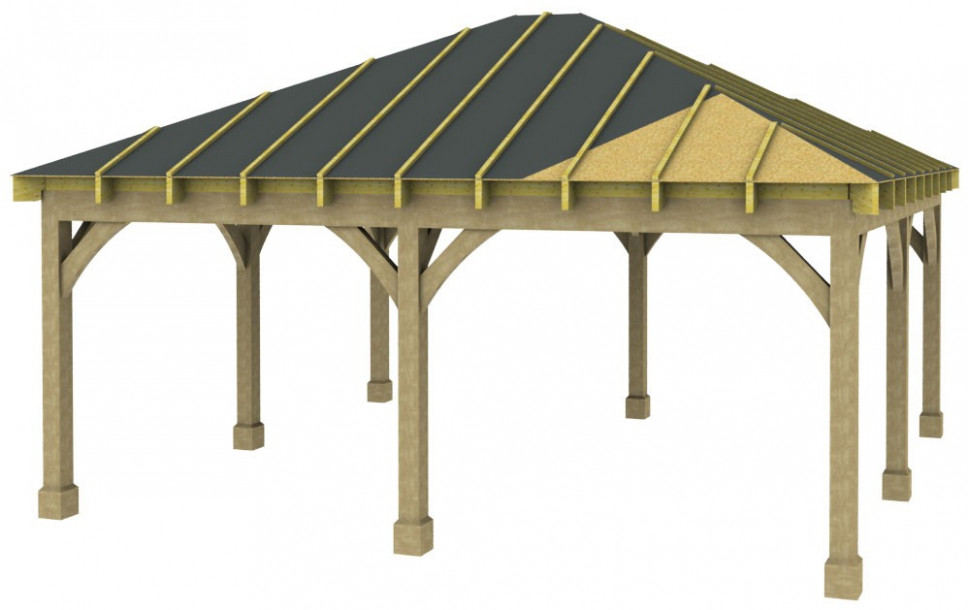 2 Bay Carport - Post & Beam - Green Oak or Douglas Fir ...