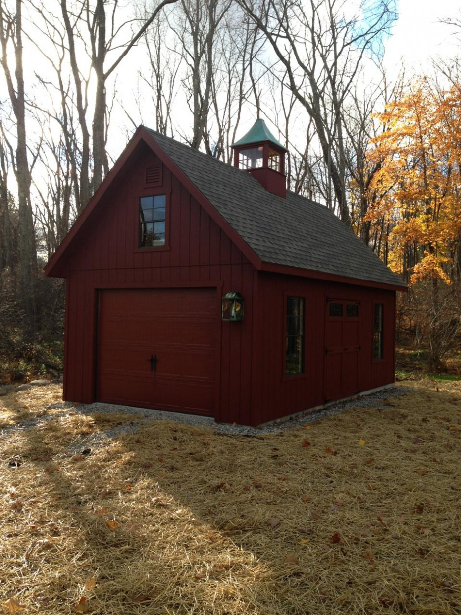 2 Car Story NJ | Amish Mike How To Frame A Carport For A Garage Door
