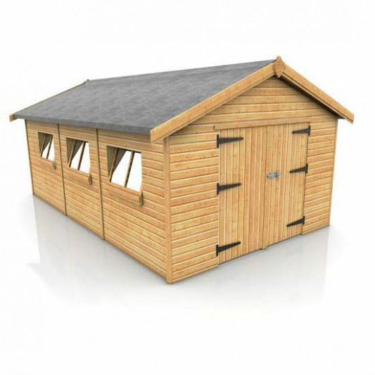 20' X 10' WOODEN TIMBER GARAGE FREE DELIVERY IN STOCK ..