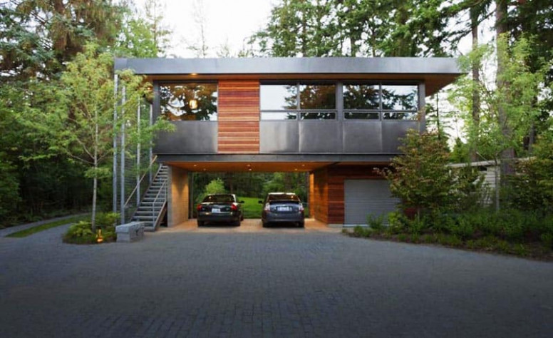 20 Open Garages Accommodated To Houses | DesignRulz Cool Modern Carports