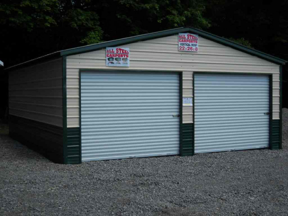 22'X26' Two Car Garage | Boat / RV Storage, Standard Steel ..