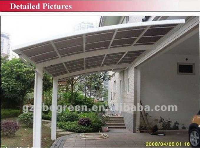 3.0m*5.5*2.9m Car Canopy With Aluminum Frame,Single Slope ..