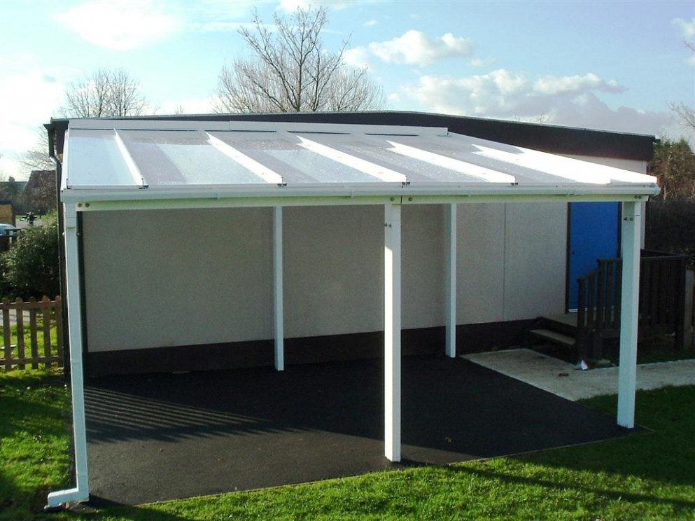 6m Powder Coated Aluminium Free Standing Canopy, Lean To ..