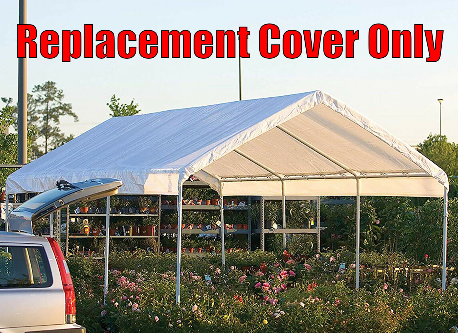 7 X 7 Feet Roof Top Cover White Tarp For Replacement Outdoor Canopy Heavy Duty Carport Canopy Replacement Tarps