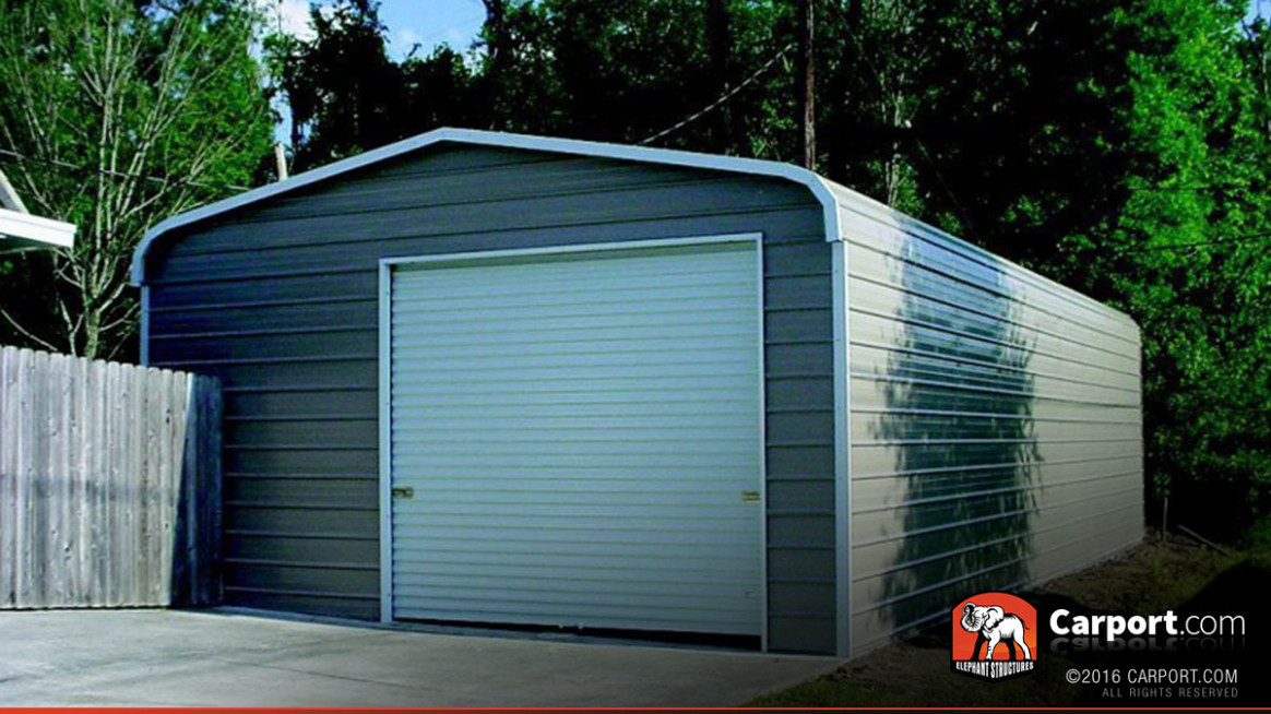 7′ X 7′ One Car Steel Garage Metal Building Metal Carport Garage Buildings