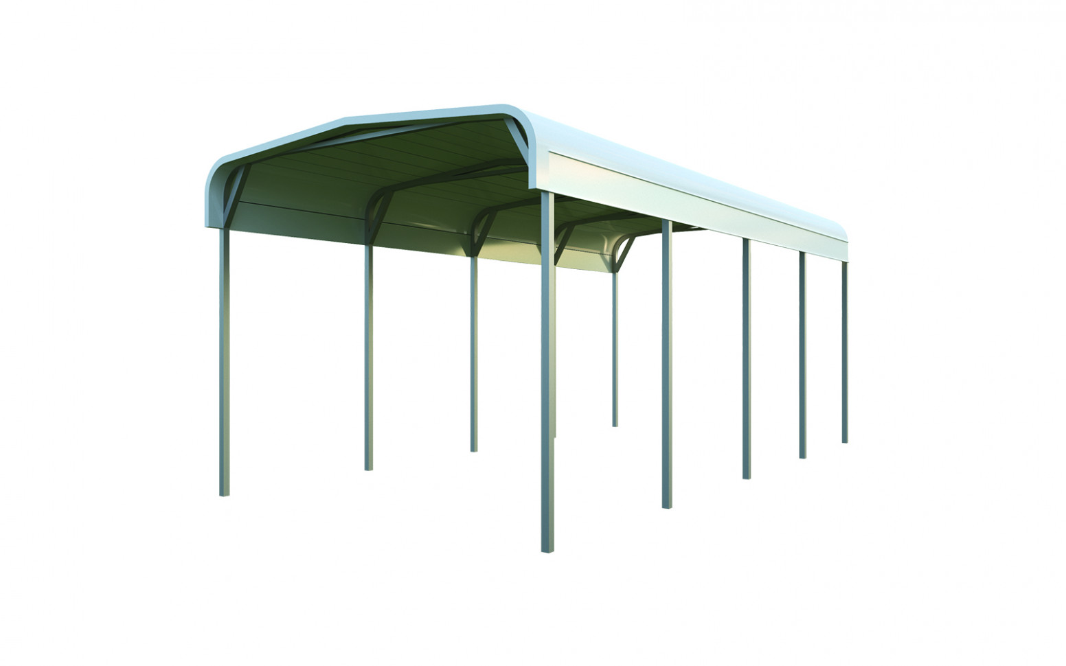 7x7 Metal Carport: Single Car Carport | General Steel Shop Carport Roof Types