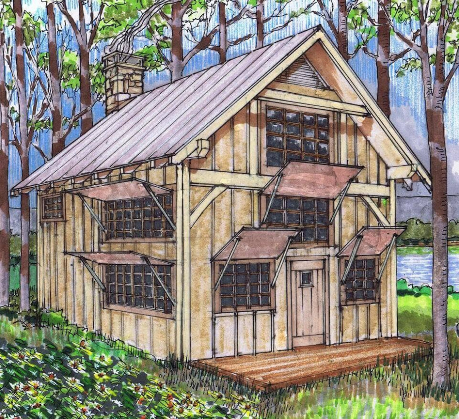 7x7 Queen Post Plan With Loft Timber Frame HQ Wooden Carport Framing Plans