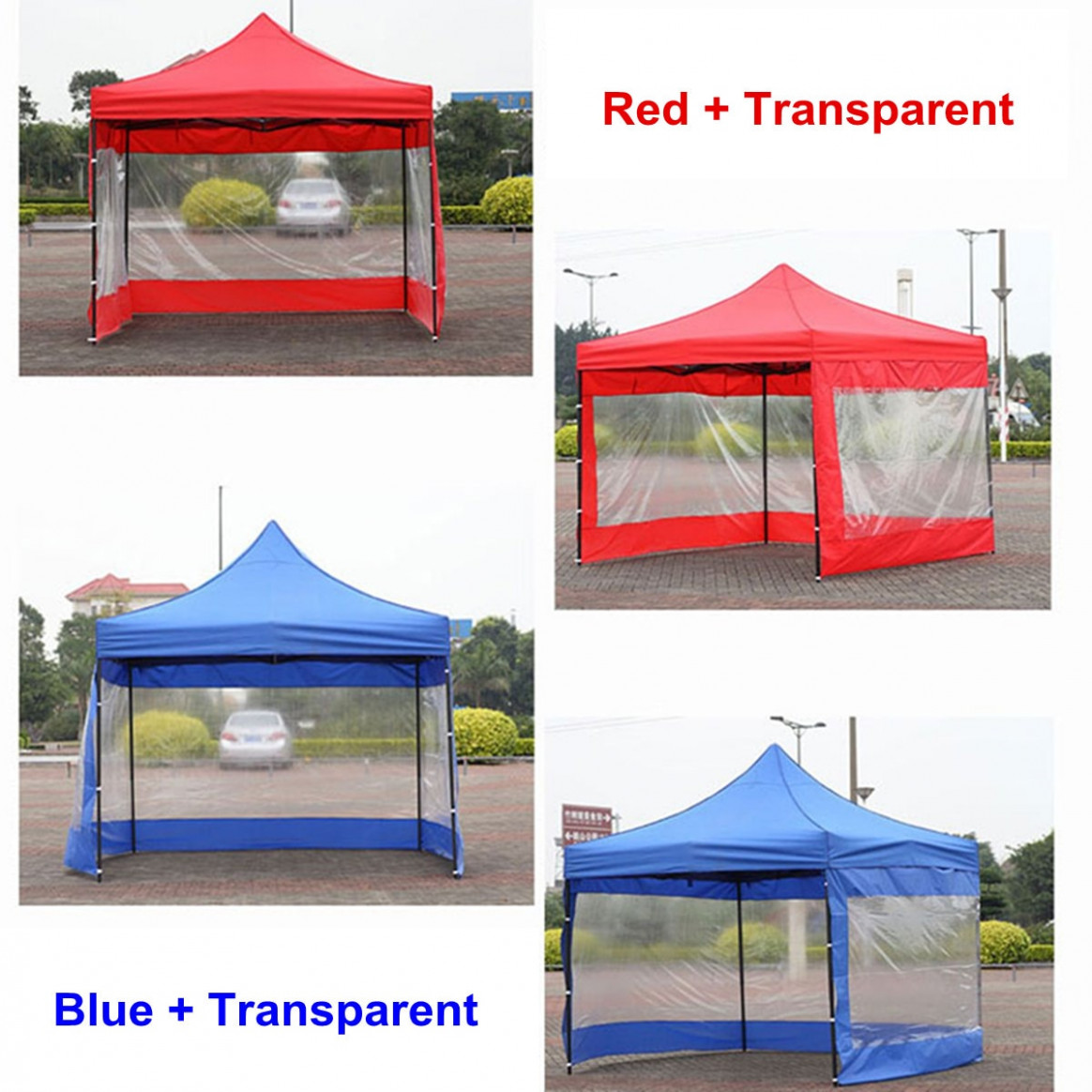 8 Color Polyester Canopy Side Wall Carport Garage Enclosure Shelter Tent Party Sun Wall Sunshade Shelter Tarp Sidewall Sunshade Carport Canopy Pictures