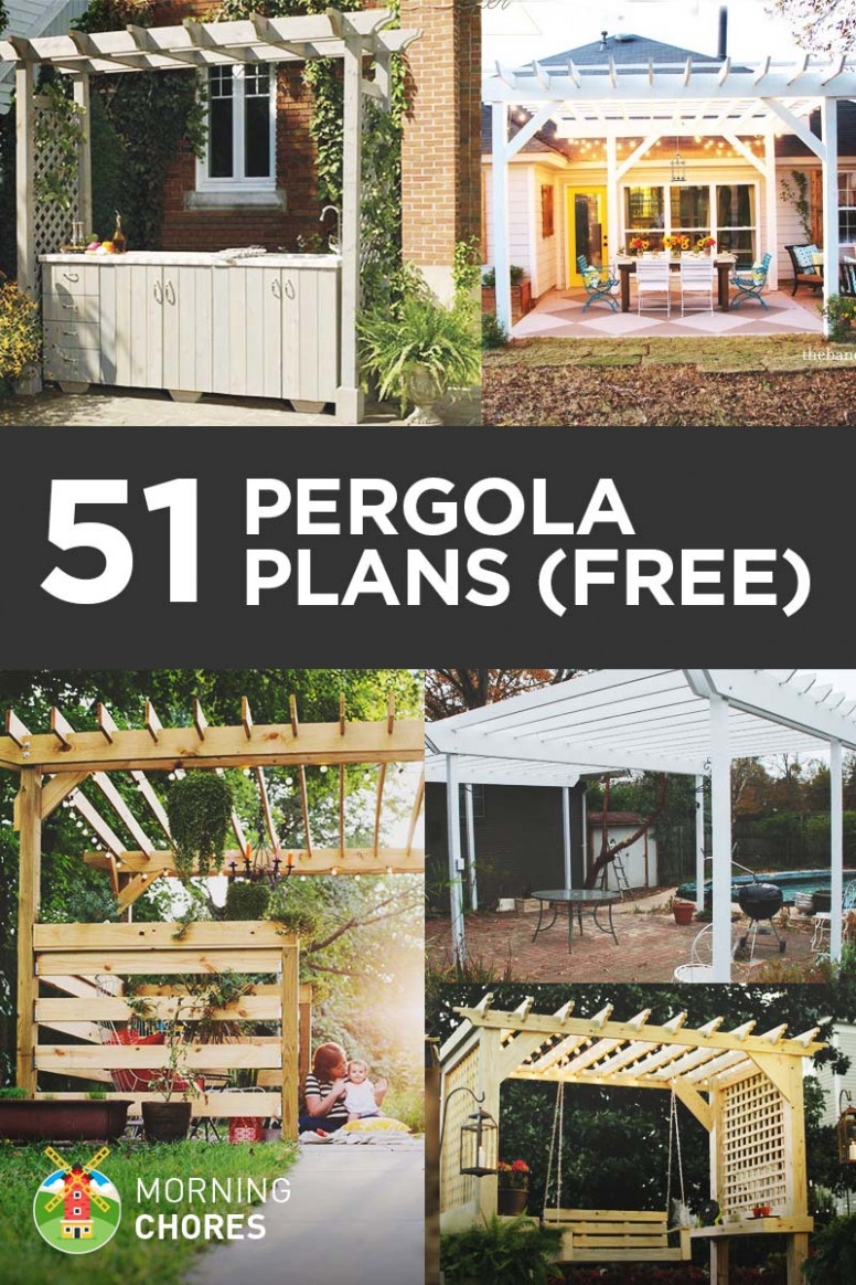 8 DIY Pergola Plans & Ideas You Can Build In Your Garden (Free) Ideas For Decorating Carport Patios