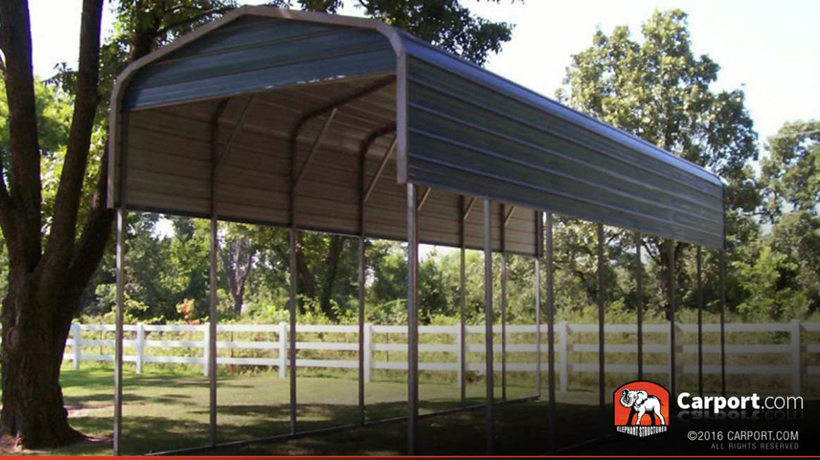 8' x 8' RV Carport Regular Metal Roof