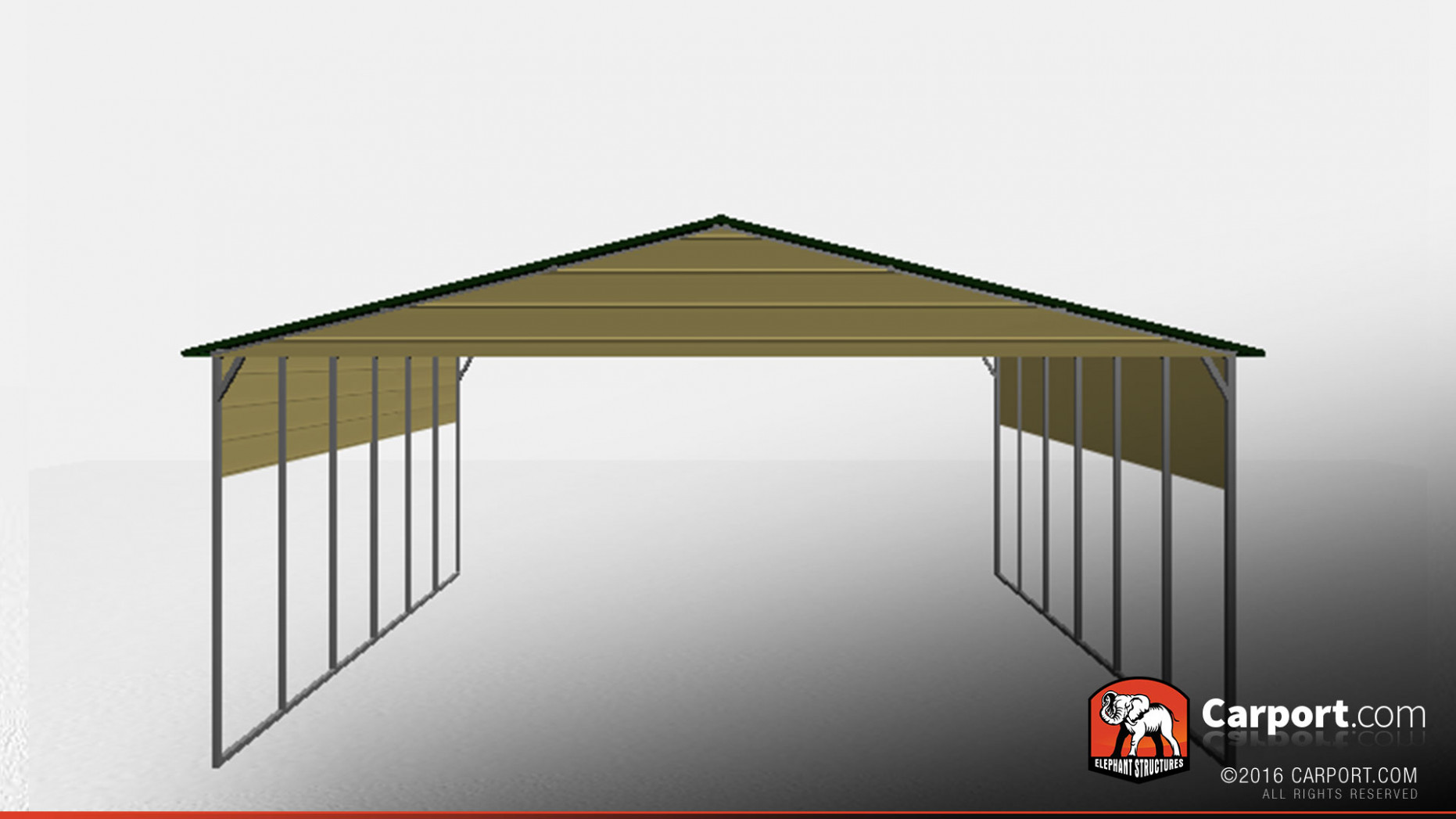 8' X 8' Top Quality Boxed Eave Car Port Carport And Garage Kits