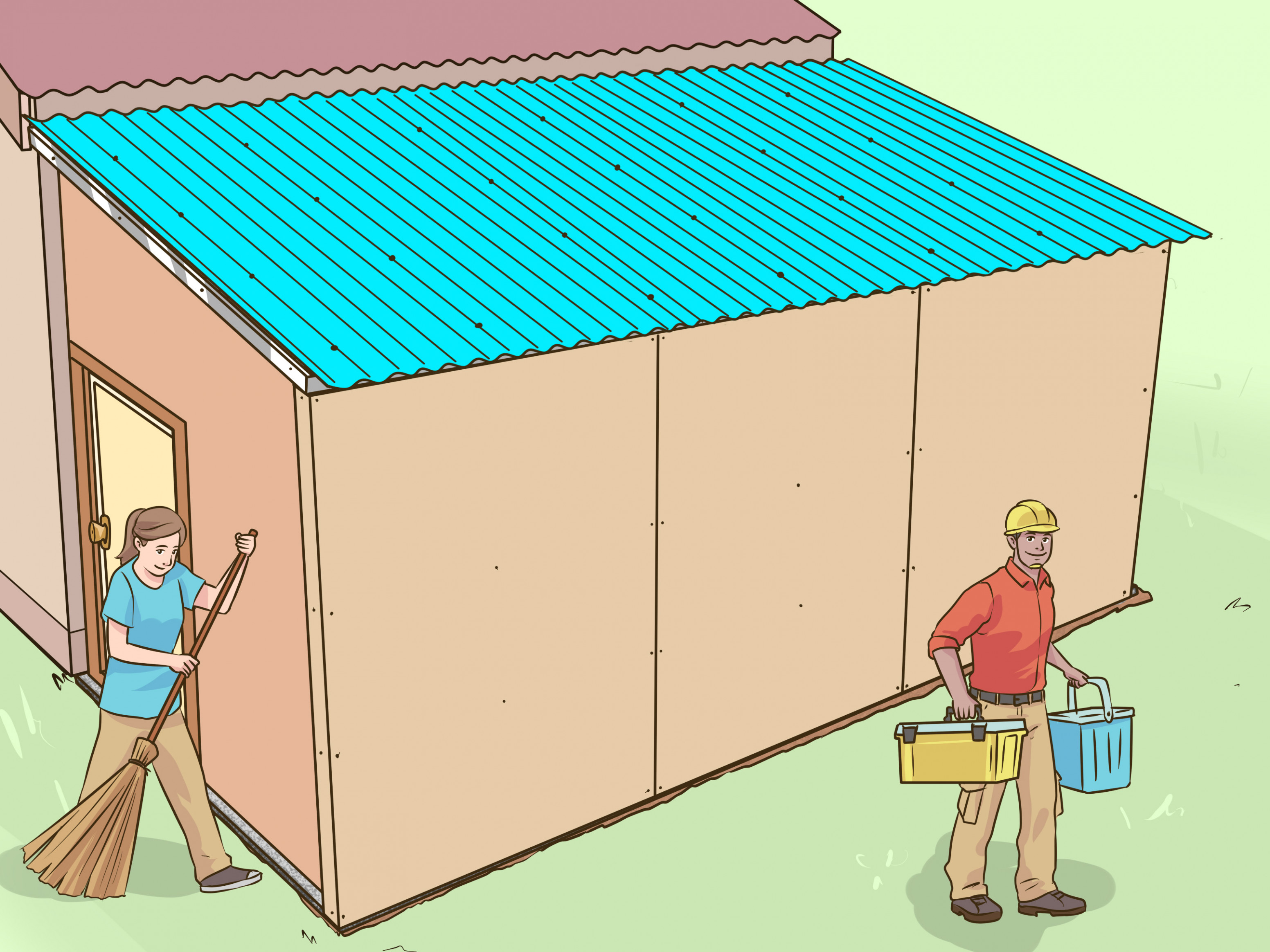 9 Ways To Add A Lean To Onto A Shed WikiHow How To Build A Wooden Lean To Carport