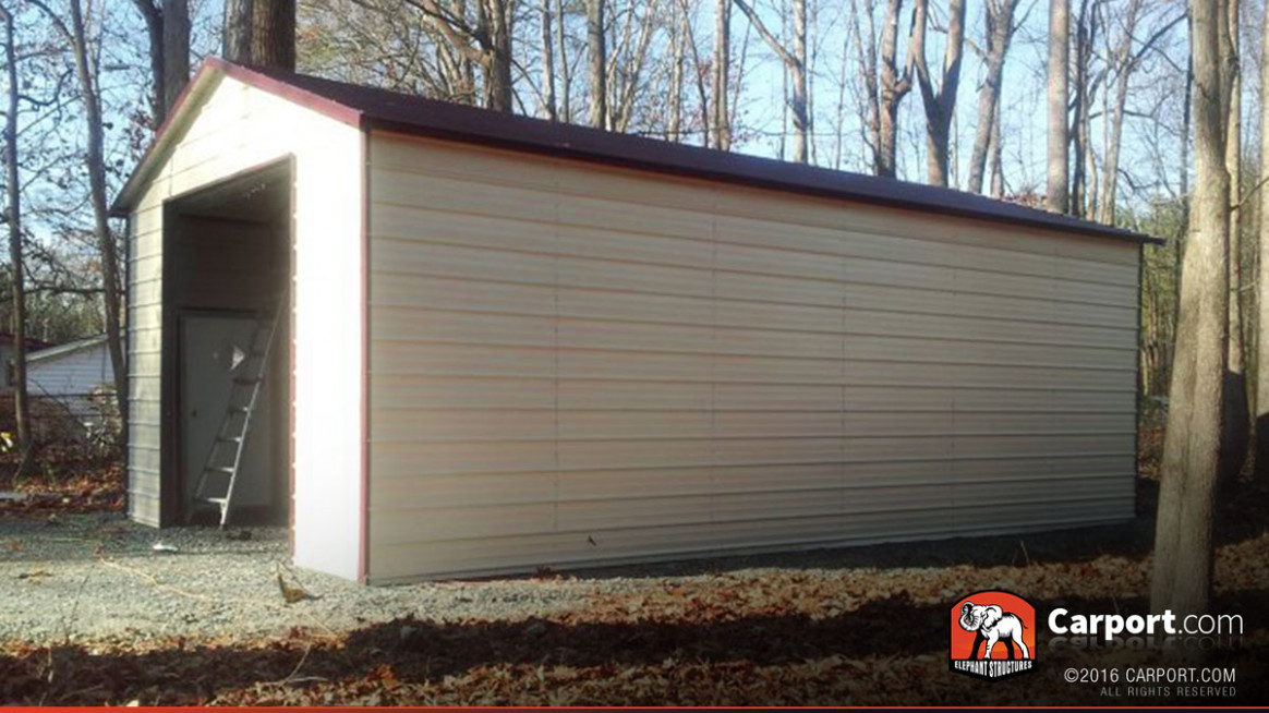 9' X 9' Metal Building With Large Garage Door When Does A Carport Become A Garage