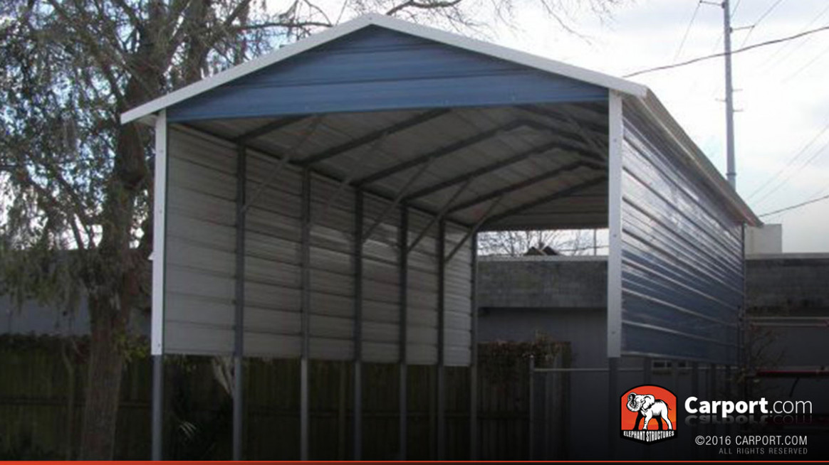 9′ X 9′ RV Cover With A Frame Metal Roof Wood Carport Roof