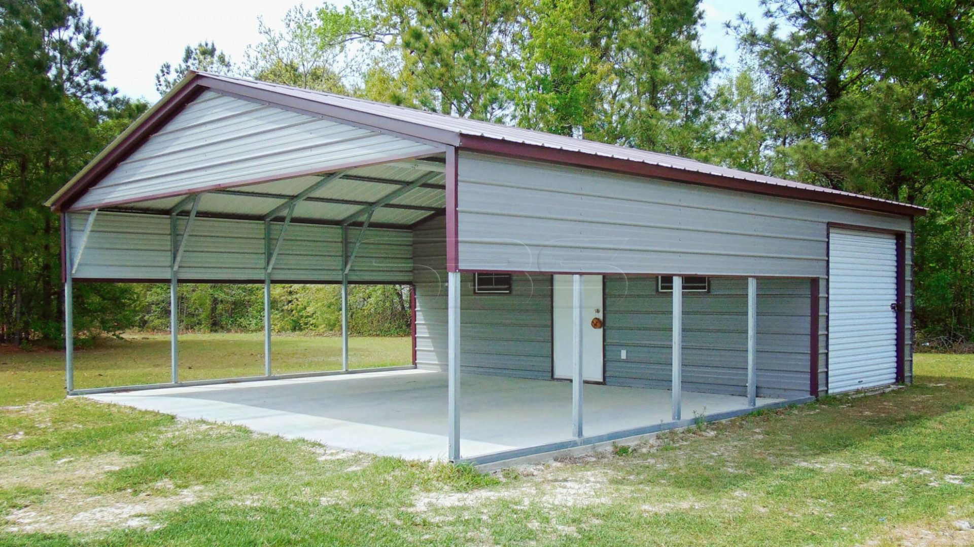 9x9 Metal Combo Carport Unit Carport Garage Metal