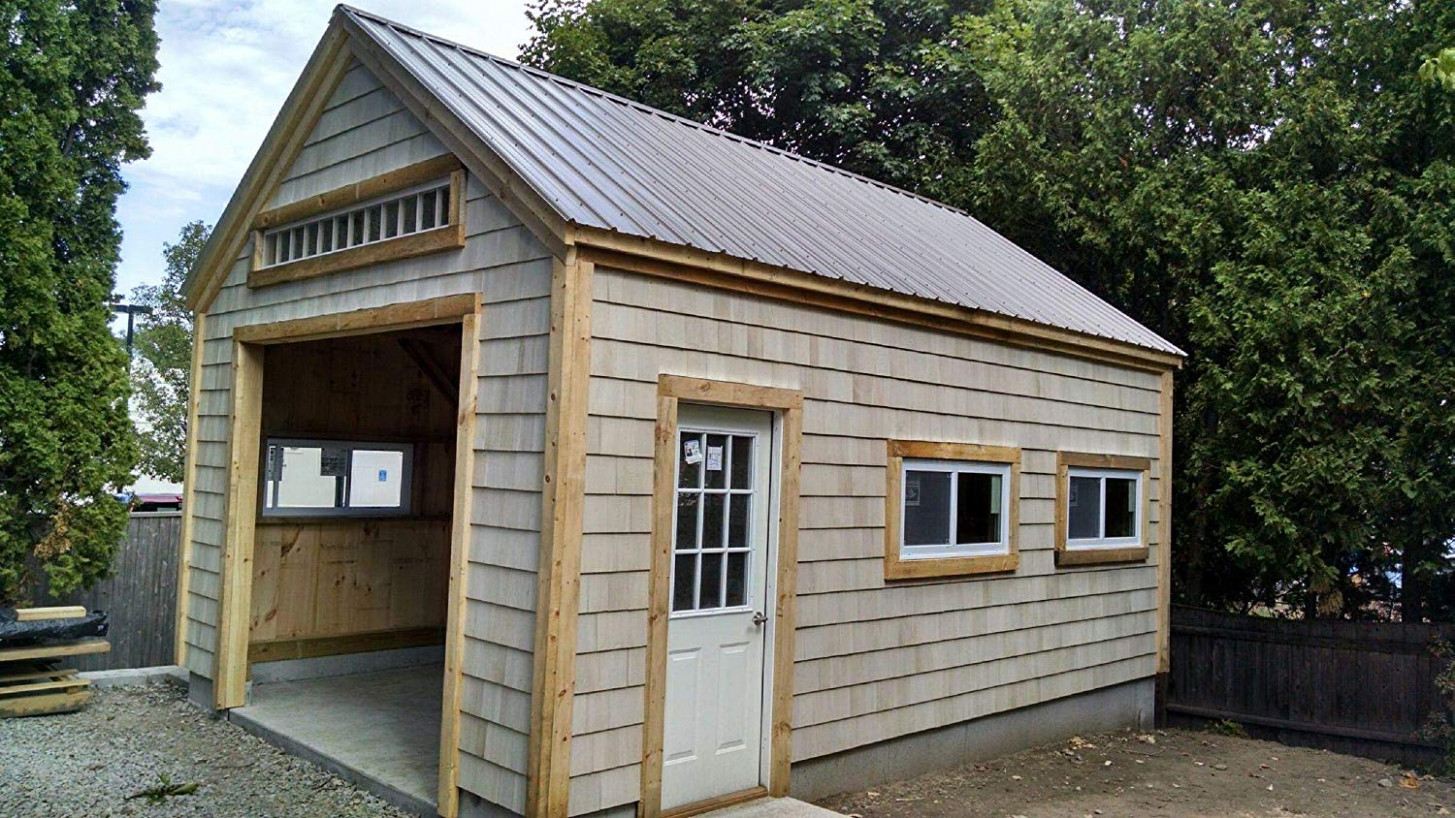 9×9 Timber Frame Post & Beam One Bay Garage Plans With ..