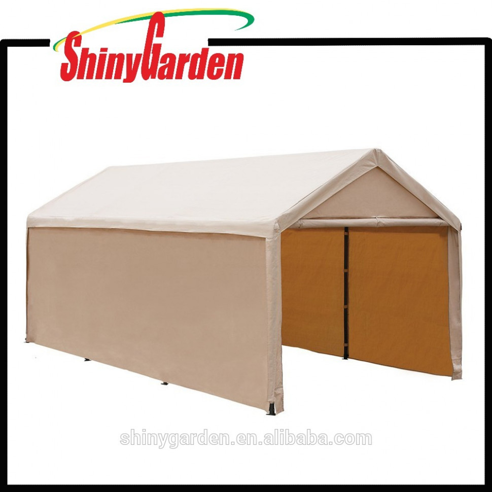 9x9ft Heavy Duty Beige Carport,Car Canopy Versatile Shelter With Sidewalls Buy Outdoor Car Shelters,Folding Car Shelter,Car Canopy With Sidewalls ..