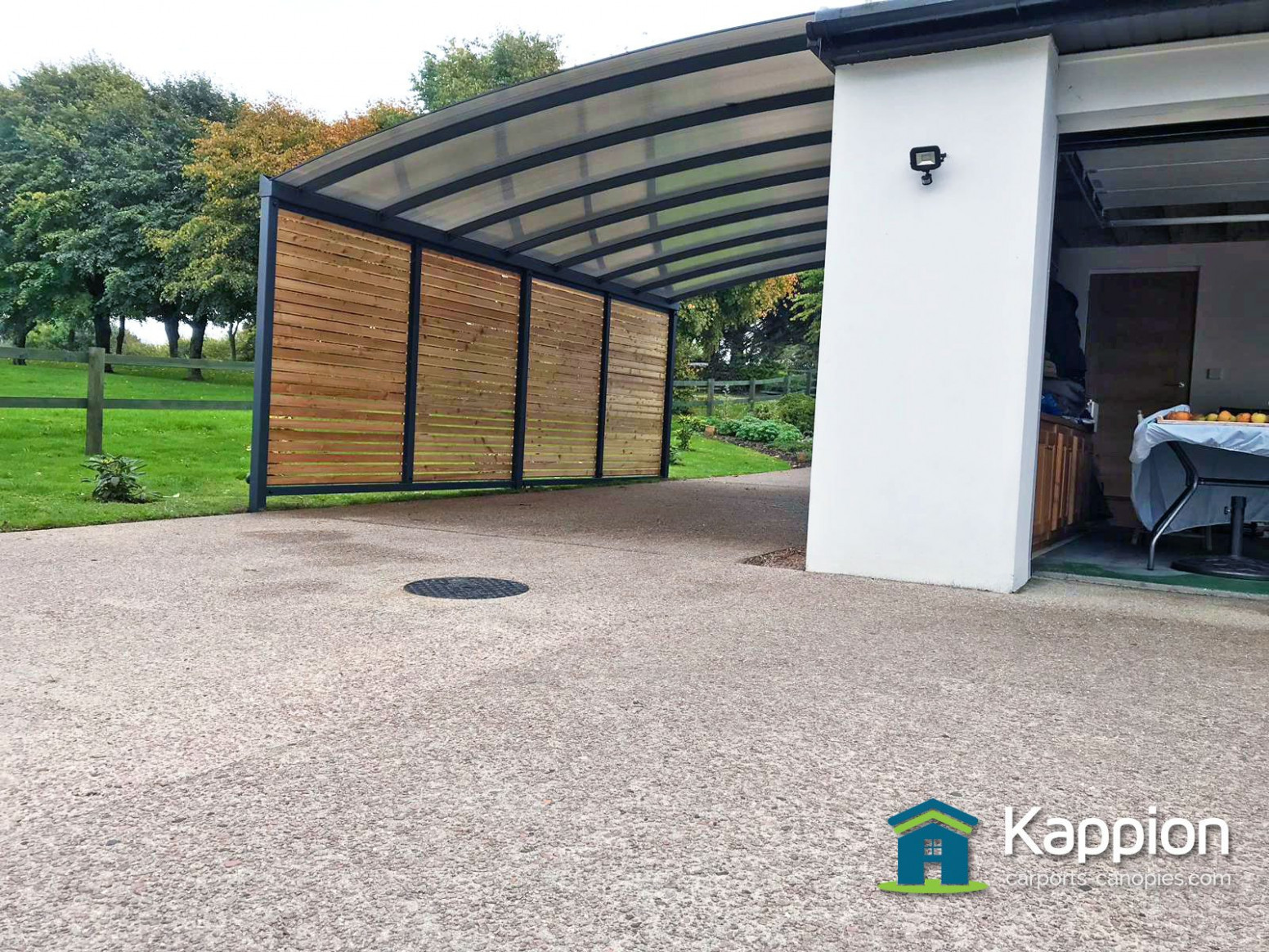 A Carport With Timber Infills North Devon | Kappion Carports ..