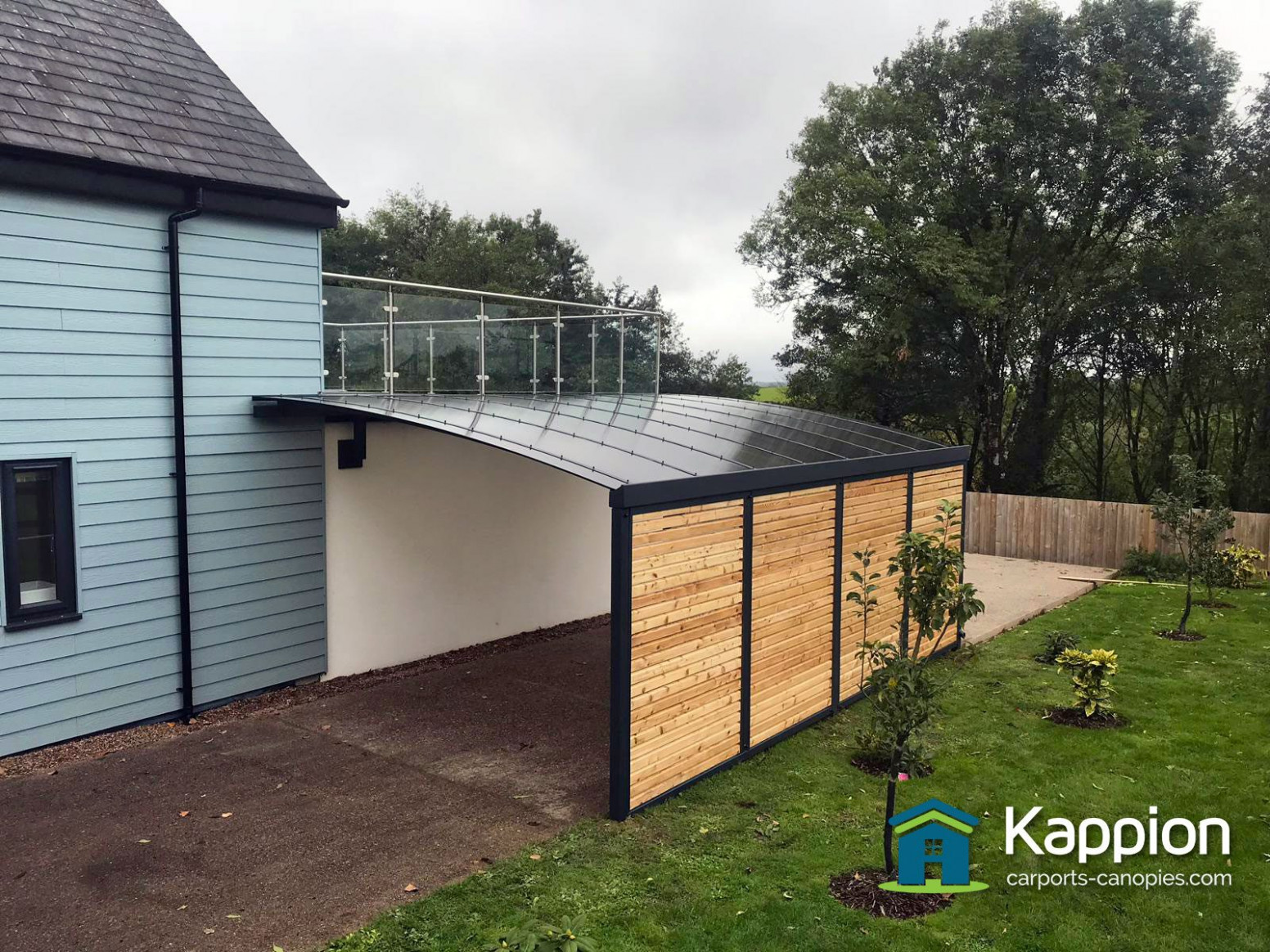 A Carport With Timber Infills North Devon | Kappion Carports ...