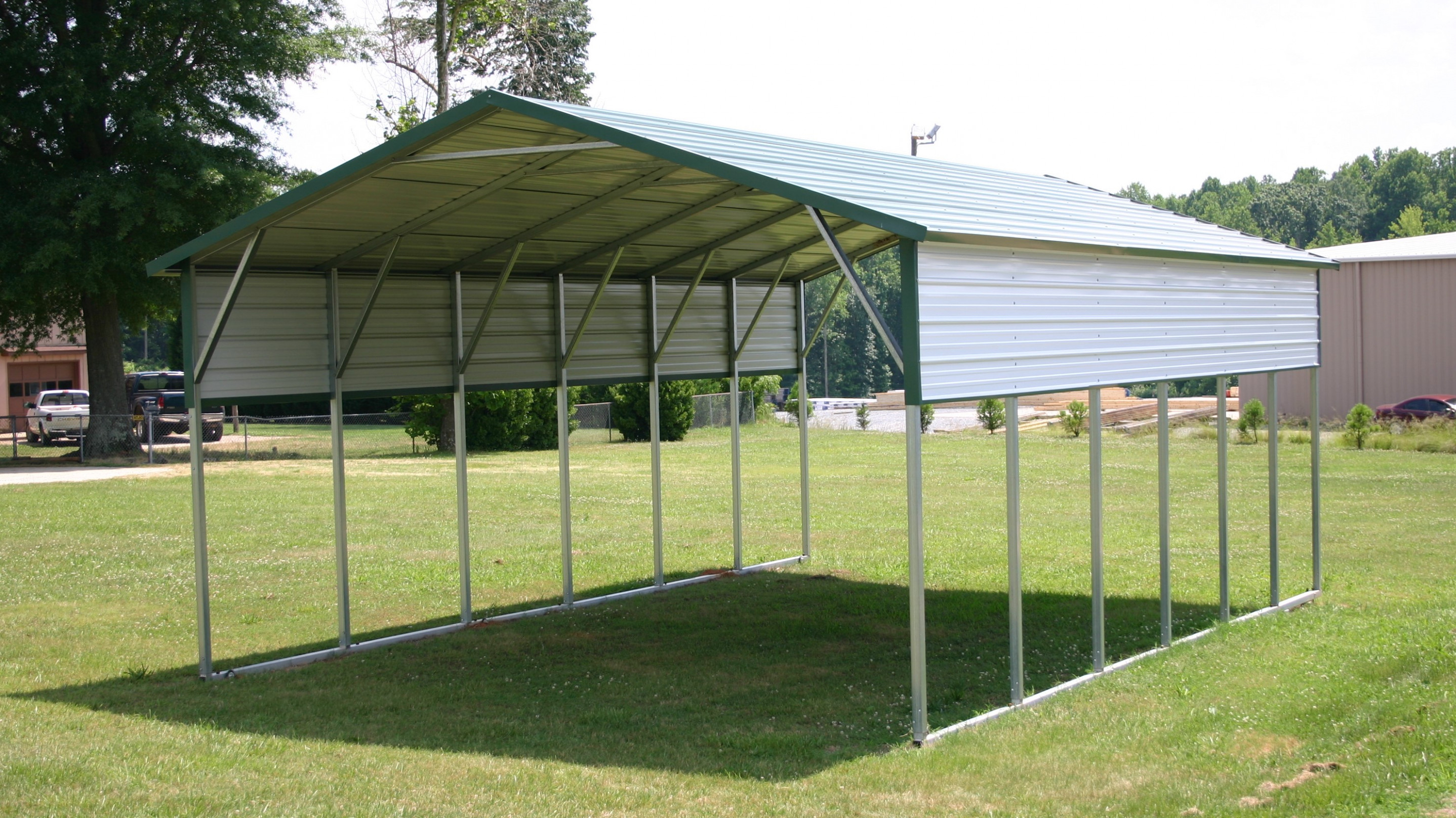 A Frame Horizontal Carports | SiRam Metal Buildings Carport Roof Bracing