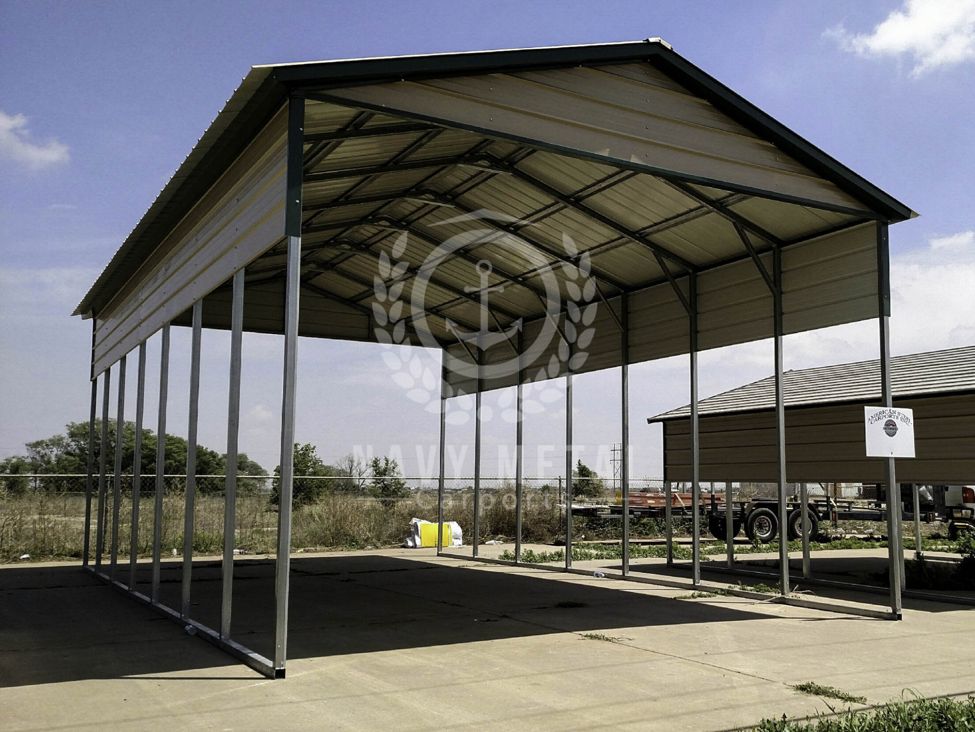 A Frame Metal Carports In OH | Navy Metal Carports Carports Roof Quotes
