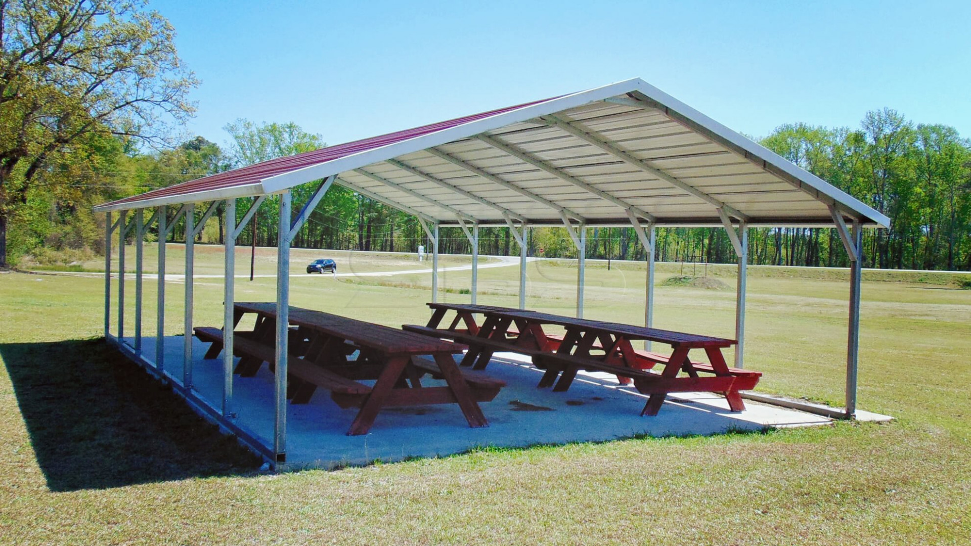 A Frame Style Metal Carports | Boxed Eave Roof Steel ..