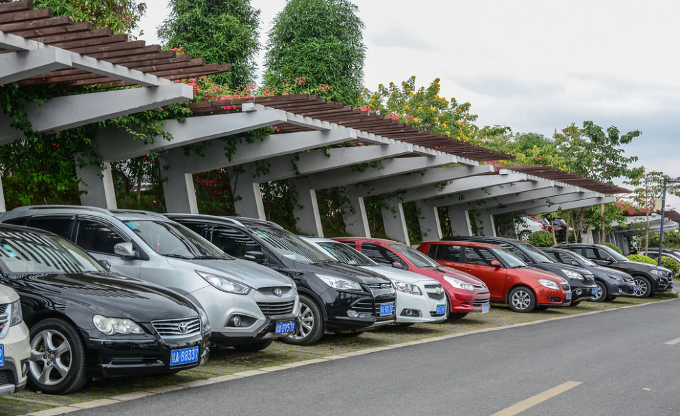 A Parking Lot In Nanning, China Garage Plans With Carport