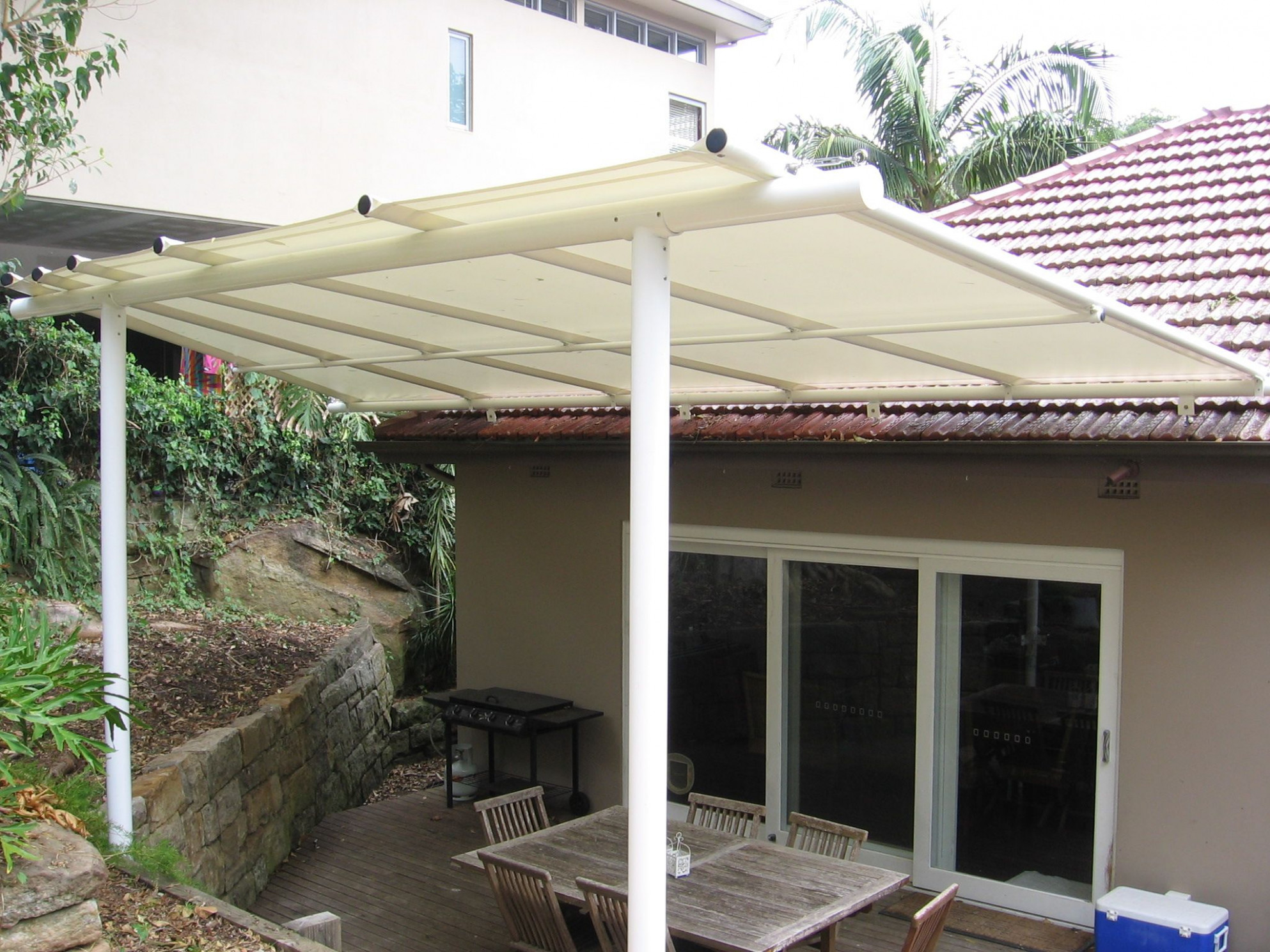 A Reverse Pitch Batten Awning Allows More Light And A View ..