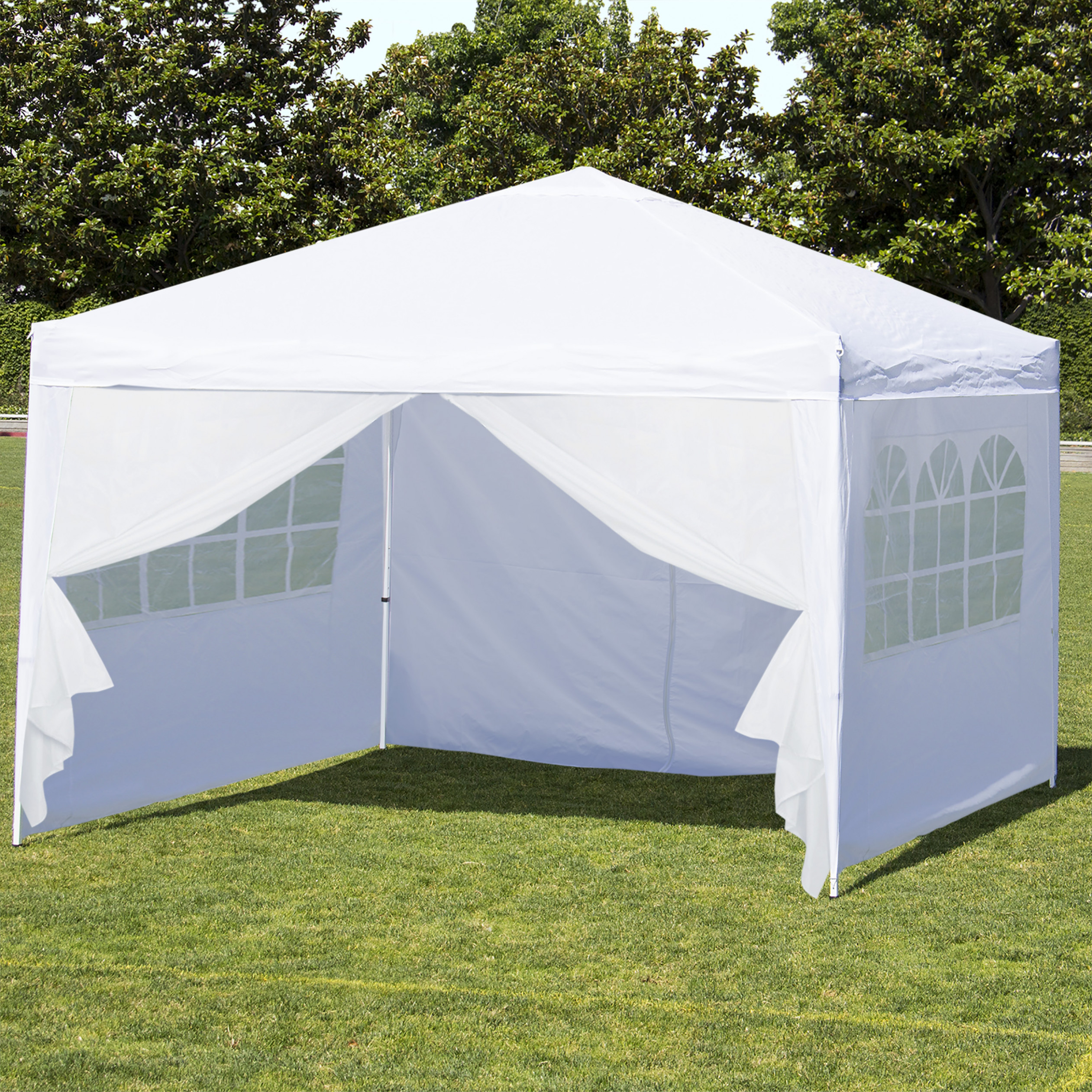 Abba Patio 11 X 11 Ft Heavy Duty Beige Carport, Car Canopy Versatile Shelter With Sidewalls Carport Canopy With Sides
