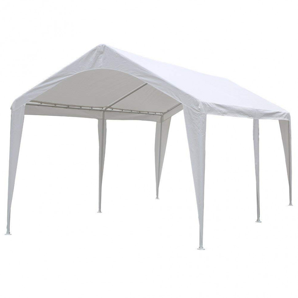Abba Patio 12 X 12 Feet Outdoor Carport Canopy With 12 Steel Legs (White) Carports Wooden Xylophone