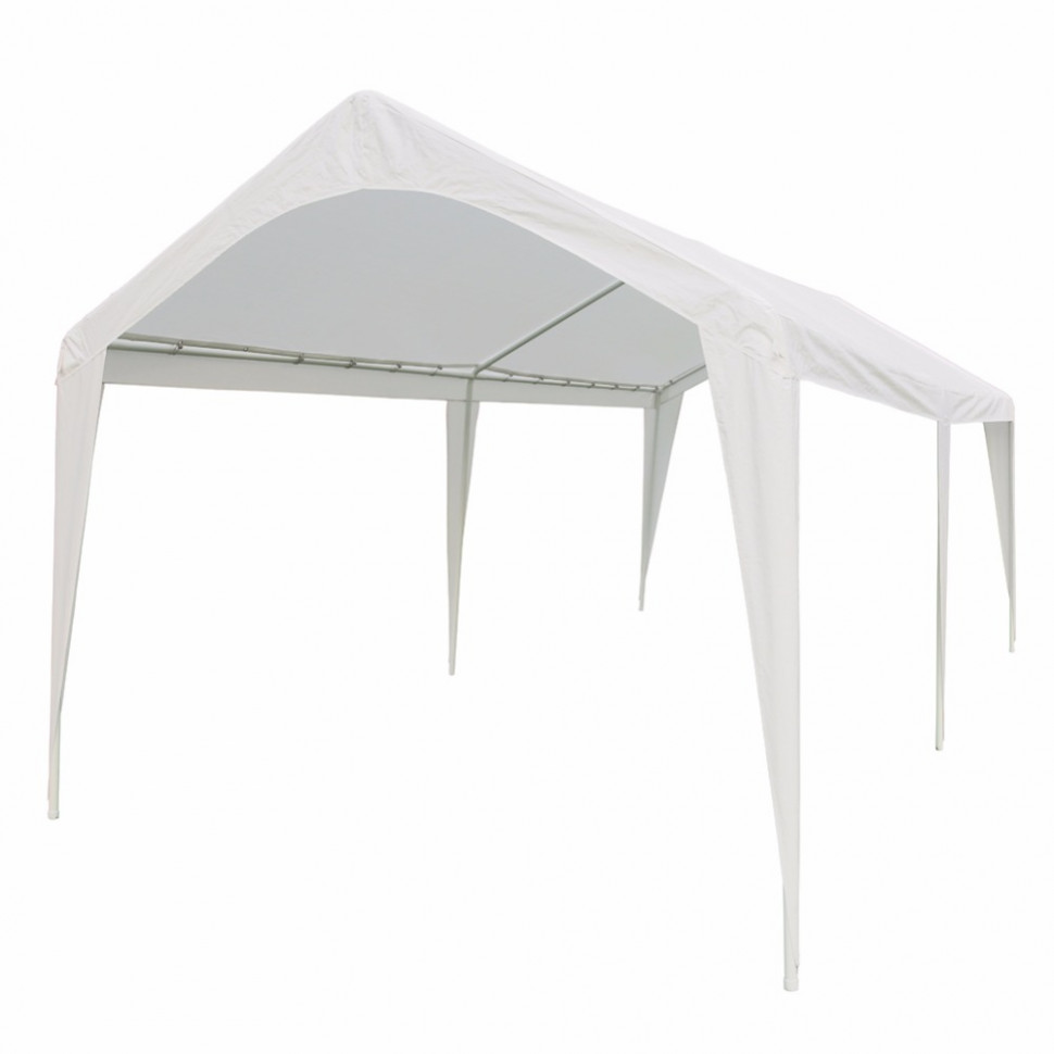Abba Patio 7×7 Outdoor Carport With Steel Legs Whiteby ..