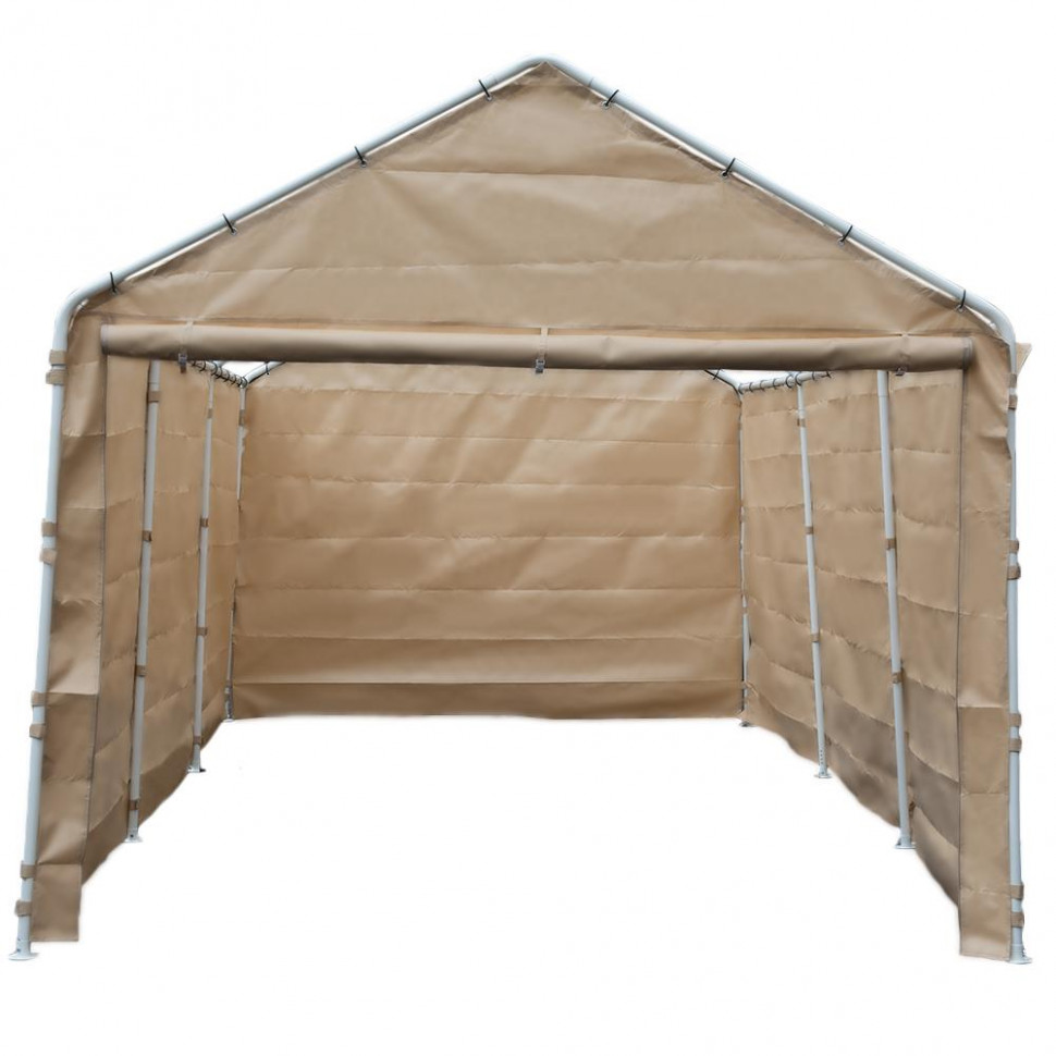Abba Patio Replacement Canopy Cover For 13 X 13 Feet Carport 13 Legs Carport Shelter With Rings (Frame & Top Cover Not Included) Brown Carport Canopy
