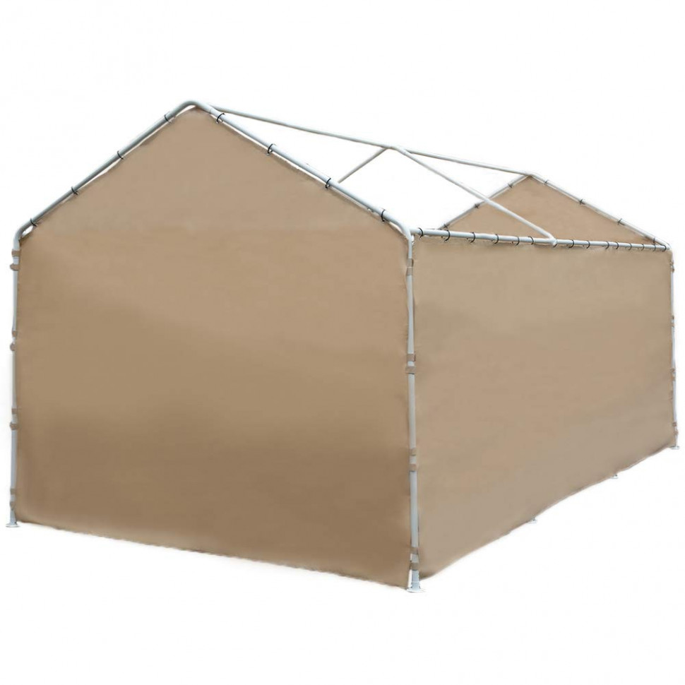 Abba Patio Replacement Cover For 13 X 13 Feet 13 Legs Carport Shelter With Rings, Beige (Frame & Top Cover Not Included) Carport Tent Cover