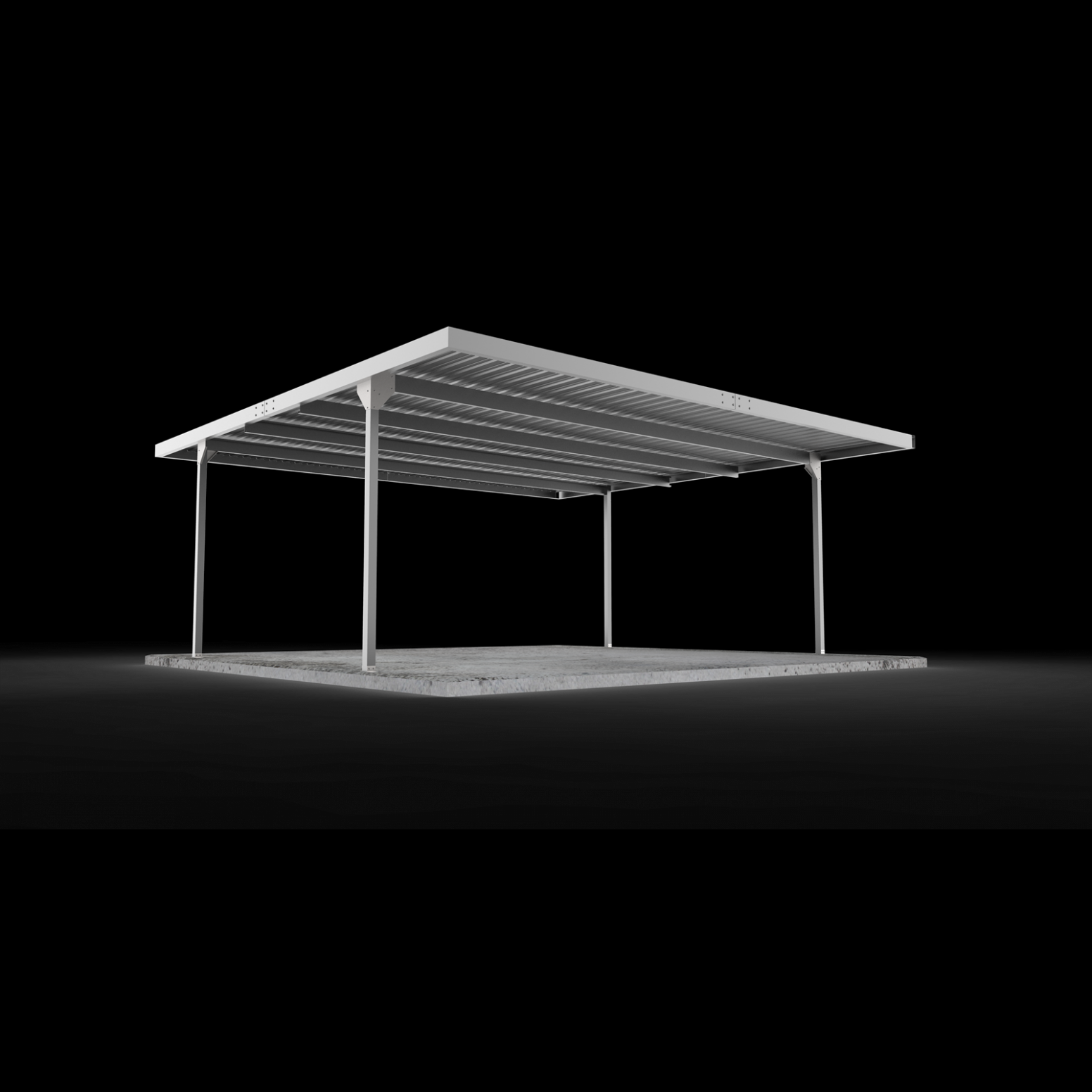 Absco Sheds 11.11 X 11.11 X 11.1111m Skillion Roof Double Carport ..