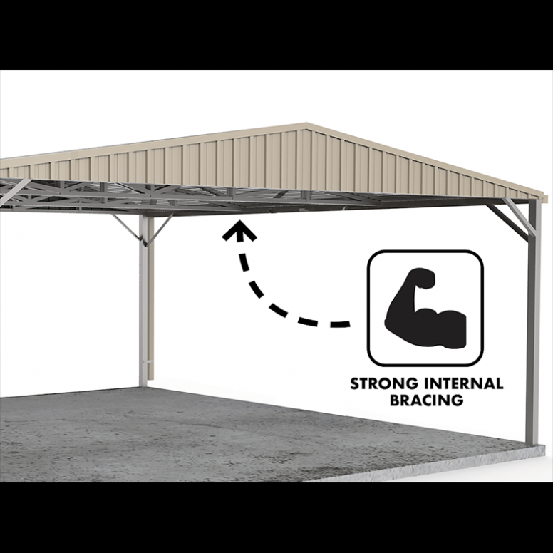 Absco Sheds 6 X 6 X 2.25m Gable Roof Double Carport ..