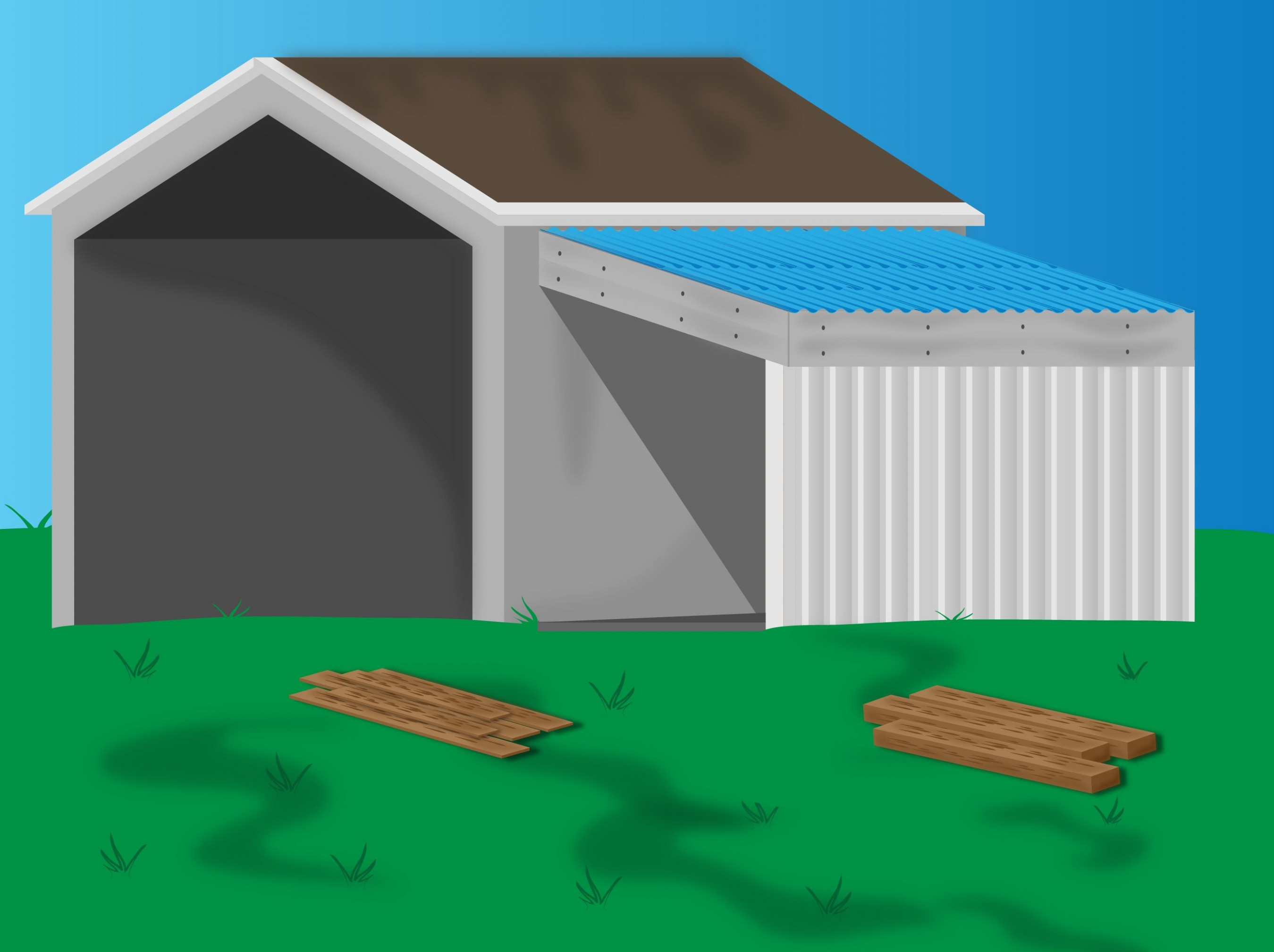 Add A Lean To Onto A Shed | Rental | Lean To Shed, Shed ..