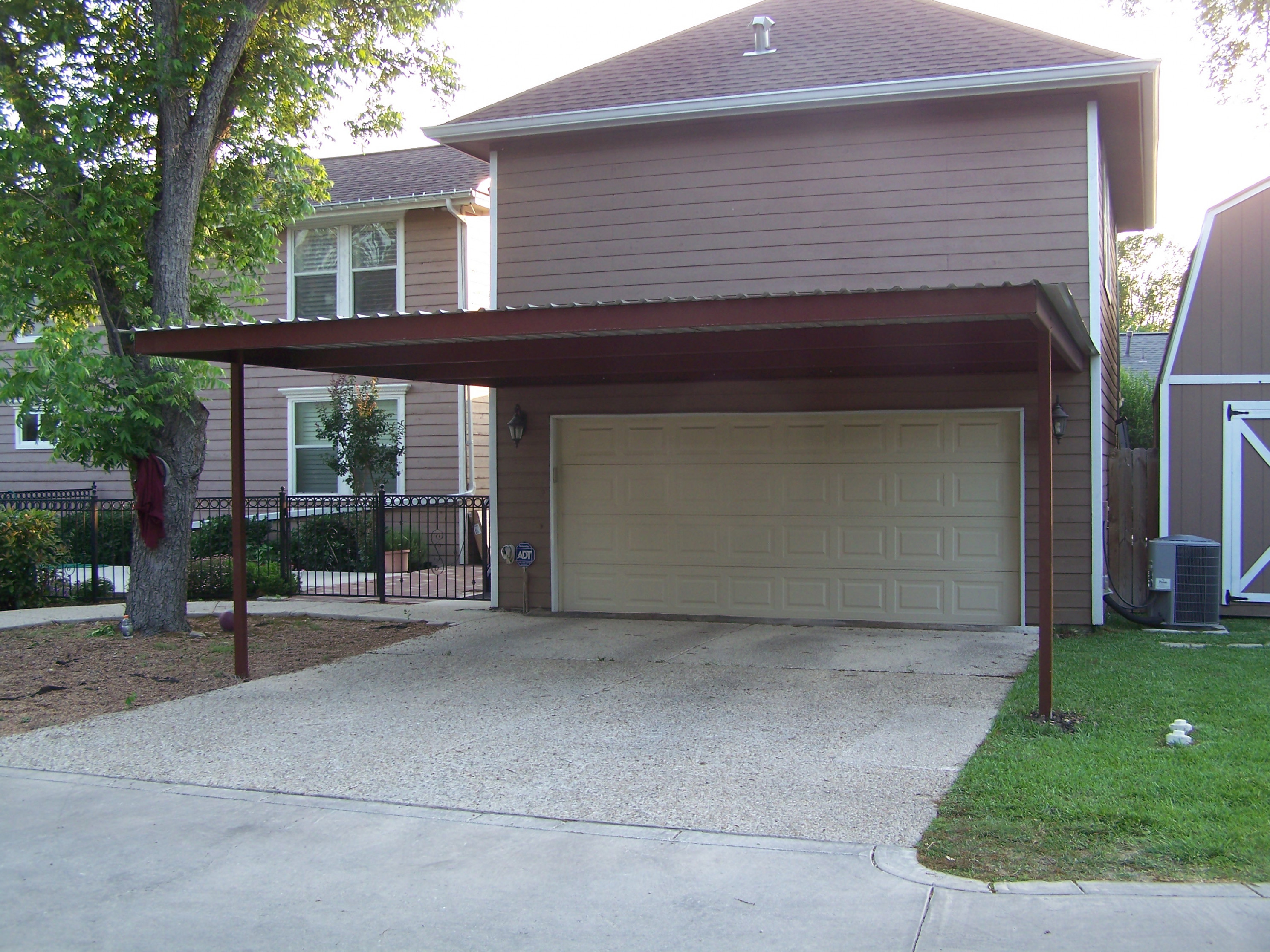 Alamo Heights Attached Carport - Carport Patio Covers ...