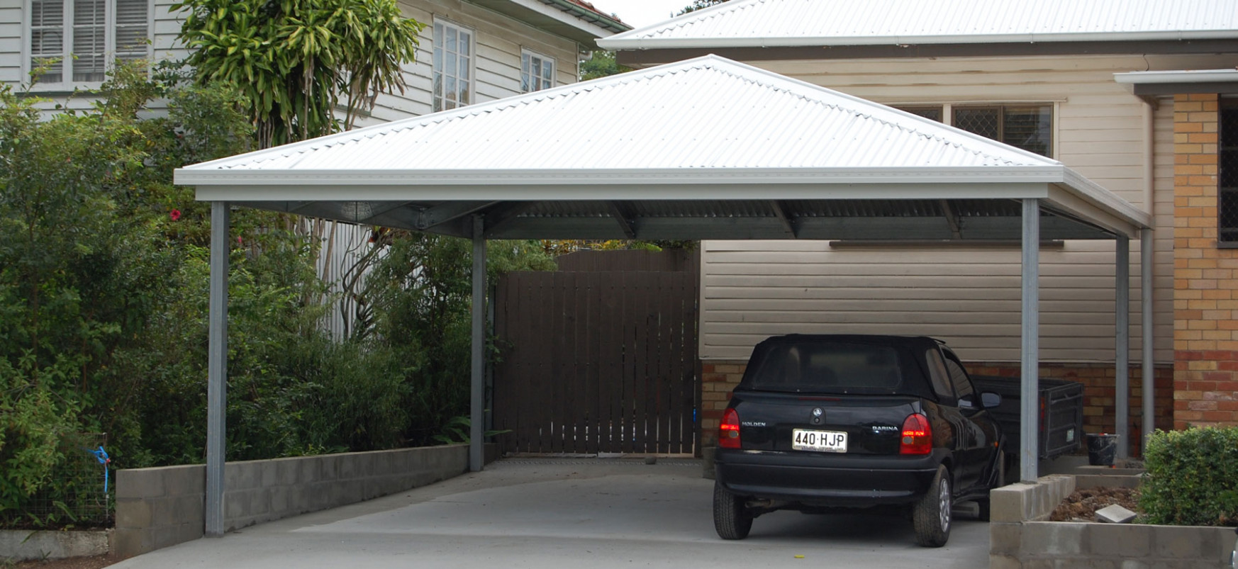 AllCover Hip Roof Carport Kits | Allcover Carports