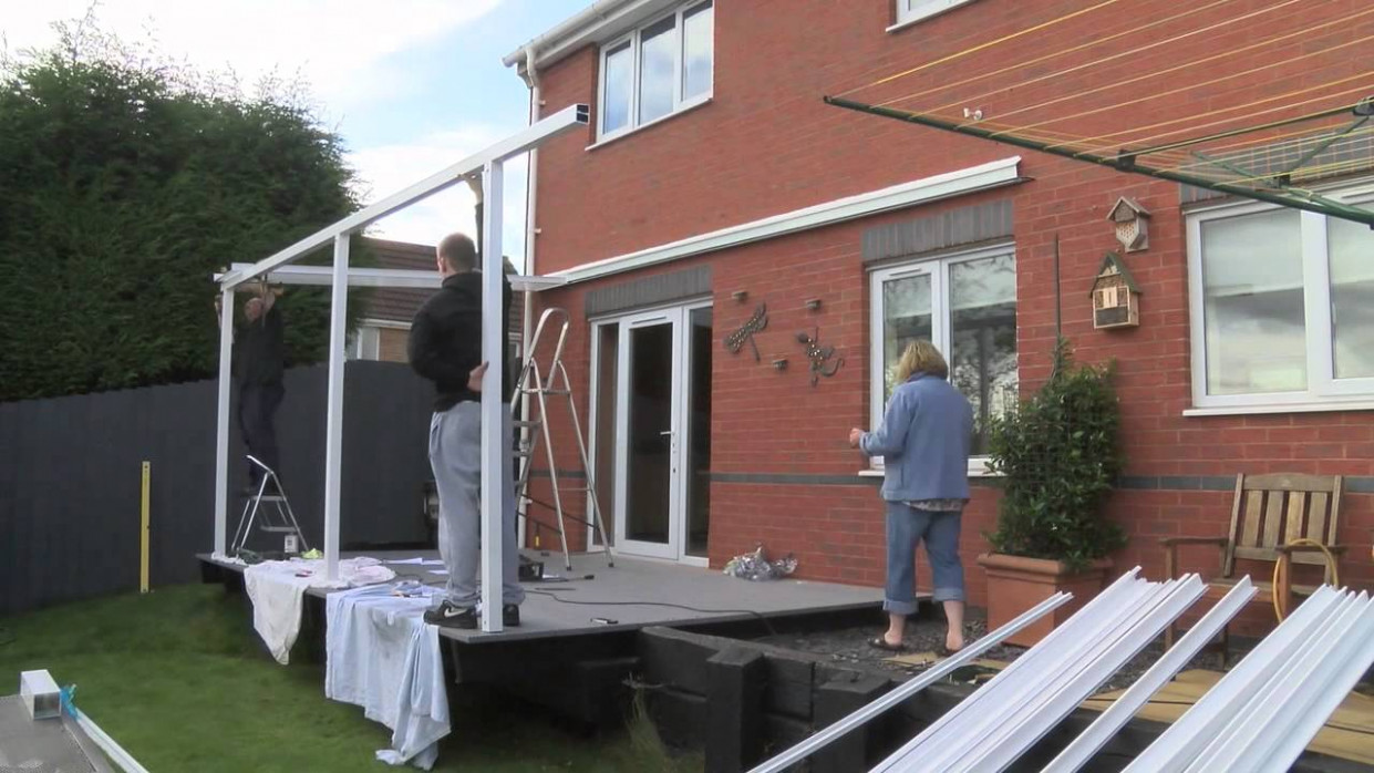Aluminium Carport Canopy Installation Demonstration Carport Roof Youtube