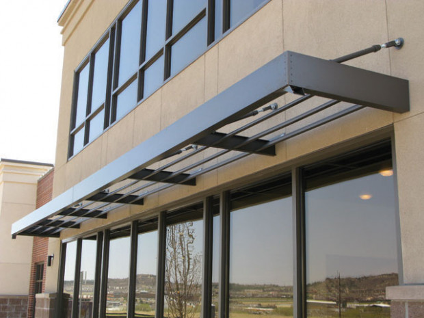 Aluminum Canopy With Louvers Identigraph Signs And Awnings Carport Contemporary Signs