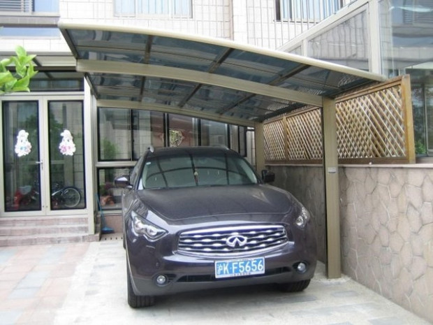 Aluminum Protective Car Shelter / Metal Car Canopy ...